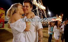 Dylan kisses me on the cheek forehead and nose all the time. It's so cute<3 :))