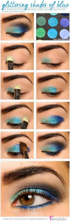 Mermaid eye makeup tutorial <3