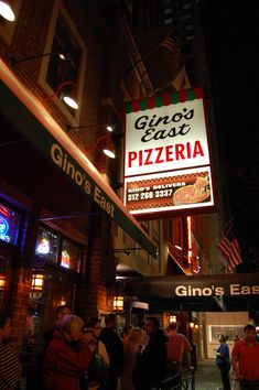 Ginos East, The BEST Pizza in Chicago!! I'm missing it, time for a trip back to Chicago!