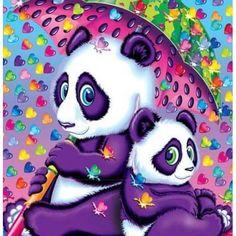 Rainy Day Pandas - Art by Lisa Frank Panda Bear Crafts, Panda Craft, Cute Panda Baby, Lisa Frank Stickers, Gata Marie, Mosaic Animals, Art N Craft, Diy Art, Cross Paintings
