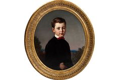 Antique Child Portrait on OneKingsLane.com