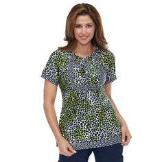 {Meow!} Koi Happiness Scrubs Women's Bella Patchwork Print Top #scrubs #koi #animalprint #allheart