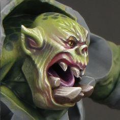 Sproket's Small World: Painting Ork (Orruk) flesh