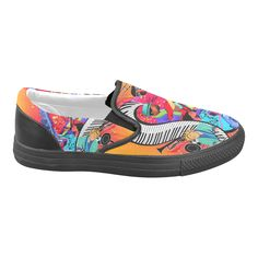Colorful Hot Jazz Print Slip-on Canvas Shoes for Men/Large Size(019)