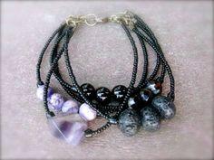 ON SALE Multi Strand Organic Beaded Bracelet  by KissOfVenus, $36.00
