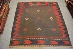 size: 4.3 x 4.5 feet Beautiful Vintage Hand by AkramVintages
