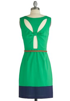 Are You Viridian or Out? Dress, #ModCloth