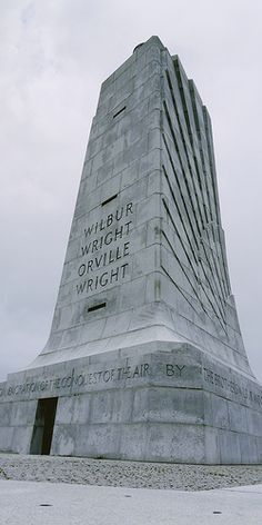 The Wright Brothers Memorial in Kill Devil Hill on the Outer Banks of North Carolina