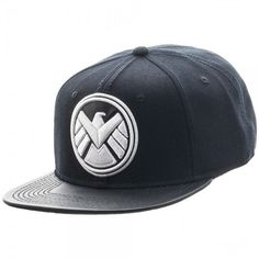 10d13066e84 Marvel S.H.I.E.L.D. Logo PU Bill Snapback Hat Cap TV Show Agents of Shield