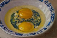 Oil Painting Egg 4x6 Still Life Small Painting A Day Realism Y Wang
