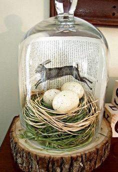 Well Dressed Home Spring Easter Shelf Table Decor Speckled Eggs Birds 6pc Set