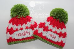 "First Christmas newborn twins ""NAUGHTY and NICE"" newborn photo prop, funny twins props"