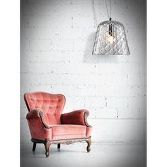 Φωτιστικό κρεμαστό με χειροποίητο γυαλί!  #luminaire #φωτιστικο #handmade #handmadelighting #homedecor Decor, Chair, Furniture, Love Seat, Luce, Accent Chairs, Home Decor