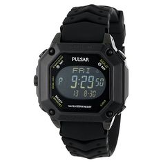Item specifics     Condition:        New with tags: A brand-new, unused, unopened, undamaged item in its original packaging (where packaging is    ... - #Watches https://lastreviews.net/fashion/mens/watches/pulsar-pw3003-mens-black-polyurethane-digital-chronograph-watch/
