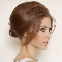 Messy updo...like the volume