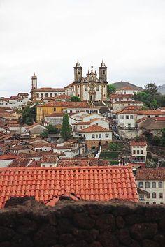 Carmo Church overlooking Ouro Preto, Brazil
