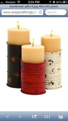 Shappy Chic Can Candles