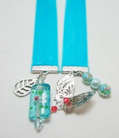 Your place to buy and sell all things handmade Friend Gifts, Gifts For Friends, Ribbon Bookmarks, Craft Show Ideas, Velvet Ribbon, Blue Velvet, Lampwork Beads, Jewelry Crafts, Snowflakes