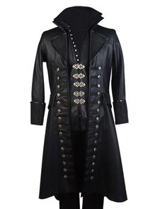 Here is the marvelous look of Colin O'Donoghue that he introduced in Once Upon A Time by wearing this Captain Hook Coat in leather. Get yours by clicking! Michael Jackson Jacket, Colin O'donoghue, Womens Size Chart, Captain Hook, Collar Styles, Jackets For Women, Black Leather, Stylish, Coat