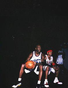 fe83a7b6e77553 Michael Jordan   Allen Iverson Basketball Legends