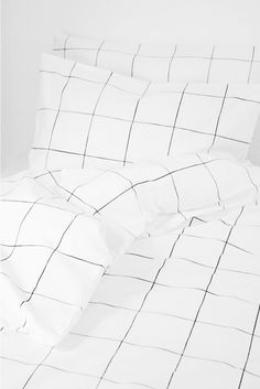 HOME | Grid Black & White Duvet Quilt Cover