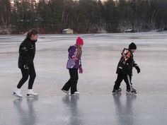 winter fun on Lake Owen Cable, Wisconsin