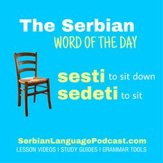 Serbian Word of the Day Serbian Language, Sentence Examples, Study Guides, Word Of The Day, Grammar, Sentences, English, Education, Learning