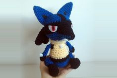 Lucario - cute / chibi version by Miahandcrafter