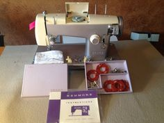 Vintagep Purple and Cream  Kenmore by FrenchCreekSewingBou on Etsy, $75.00