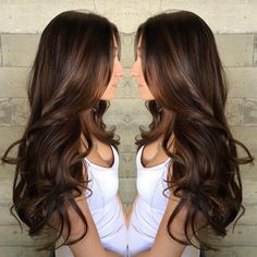 Dark Chocolate Brown Hair Color with Caramel Highlights - Best Hair Color for Ethnic Hair Check more at http://www.fitnursetaylor.com/dark-chocolate-brown-hair-color-with-caramel-highlights/
