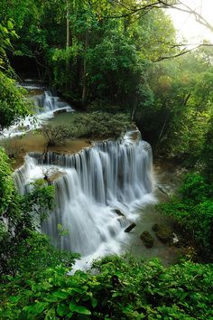 Tropical Rainforest Waterfalls..