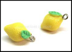 Breloque citron - UNE HISTOIRE DE MODE Creations, Engagement Rings, Diy, Charms, Lemon, Jewelry, Cottage, Textile Jewelry, Handkerchief Dress