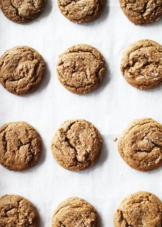Spiced Ginger Cookies with Molasses | Flourishing Foodie. Thinking of health-ifying these