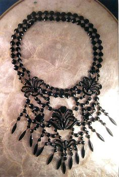 Quite possibly the most beautiful Victorian French Jet Necklace I've ever seen. *sigh*