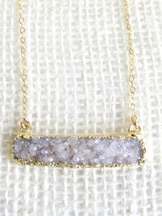 Midnight Necklace. Sparking Druzy works for day or night.