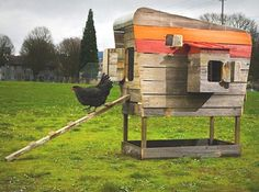 Chicken House from pallets Made by my FatherinLaw For the