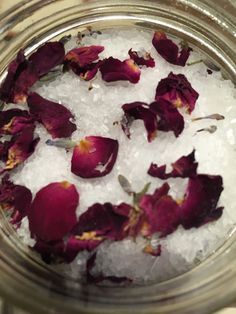 Lavender Rose Petal Bath Salts