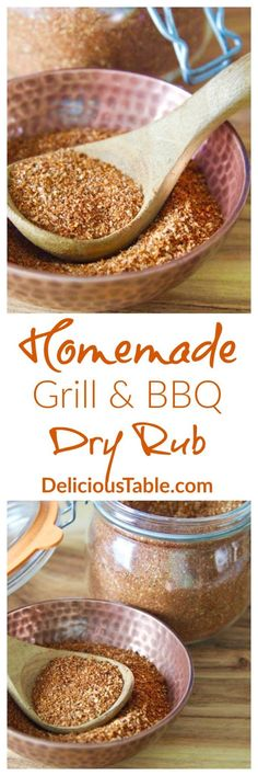 beef or chicken, this easy inexpensive Homemade Grill & BBQ Dry Rub is preservative free. Save money and use up extra spices in your kitchen! Homemade Grill, Homemade Spices, Homemade Seasonings, Bbq Dry Rub, Dry Rubs, Summer Recipes, Easy Dinner Recipes, Barbecue, Bbq Beef