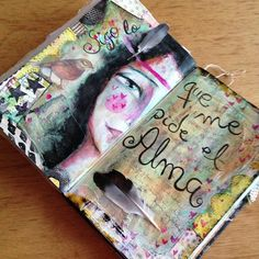 soulful art journal page ~ I love adding found feathers to my journal pages & journal books!! :)