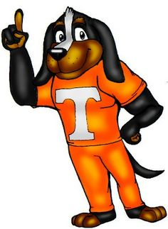 "Tennessee Volunteers SMOKEY MASCOT 4"" Vinyl Decal Car ..."