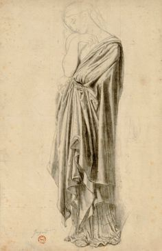 Jean-Auguste-Dominique Ingres - Study for Stratonice (1834-40)