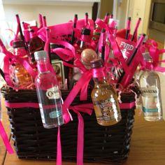 Bachelorette gift basket of booze!