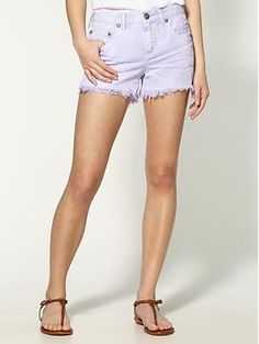 Free People Colored Denim Cut Off Shorts | Piperlime