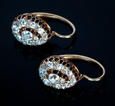 Antique Russian Diamond Earrings 1st dibs