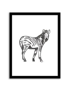 Download and print this free printable Watercolor Zebra wall art for your home or office!
