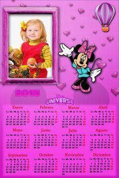 Recursos Photoshop Llanpac: Calendario del 2015 de Minnie para Photoshop (Psd ...