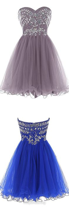 Cheap Prom Dresses,A-line Sweetheart Cocktail Dress,Tulle Short Formal Party Gowns,Cascading Ruffles Homecoming Dresses