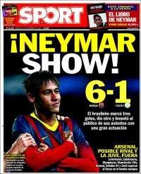 Portada de Sport 12/12/2013