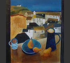 Anuk Naumann - St Ives Still Life. Painting Still Life, Still Life Art, Abstract Landscape, Abstract Art, Art For Art Sake, Naive Art, Great Artists, Home Art, Art History