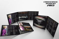 (Cliente: FMS Srl) Depliant Educational Academy 2013, versione per rappresentanti: 3 ante (chiuso 220 x 220 mm)